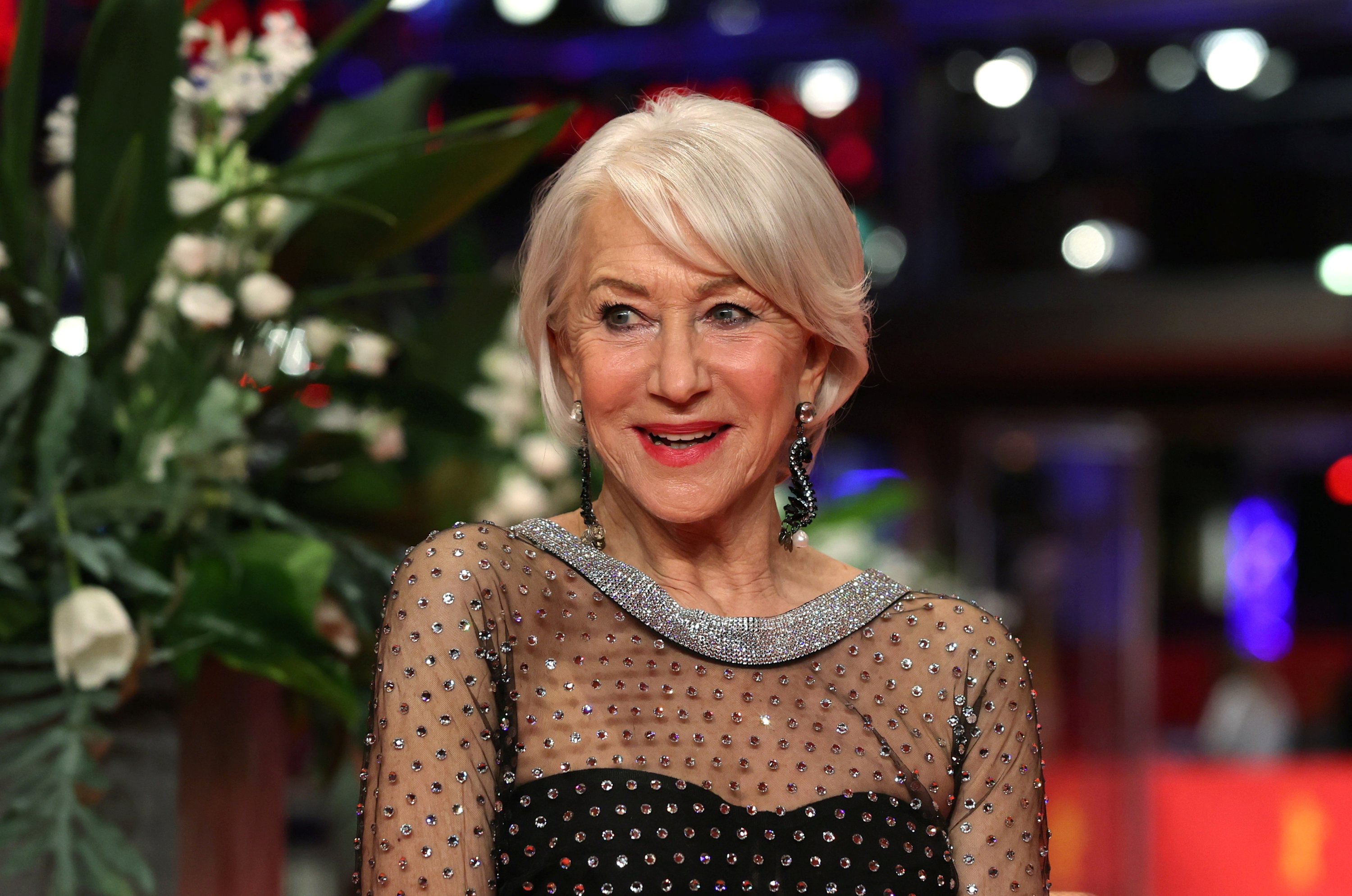 Actor Helen Mirren poses at the red carpet before receiving the Honorary Golden Bear during the 70th Berlinale International Film Festival in Berlin, Germany, Feb. 27, 2020. (Reuters Photo)