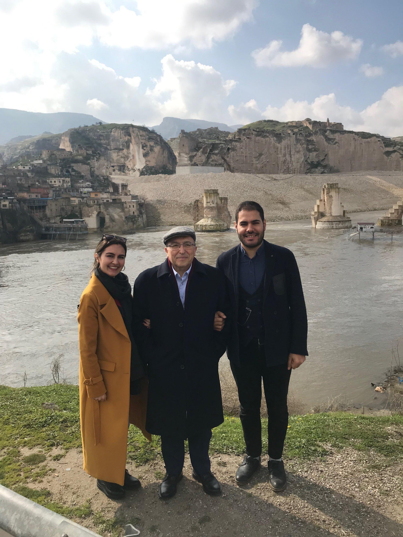From left to right, Töre Üst, Ahmet Haluk Dursun and Ferhat Küçük pose during a trip at Hasankeyf, near a Tigris riverside, Batman, southeastern Turkey, Feb. 17, 2019. (Courtesy of Ferhat Küçük)