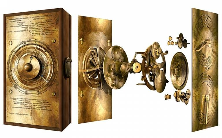 Computer-created visual showing how the Antikythera mechanism may have worked (University College London Photo)