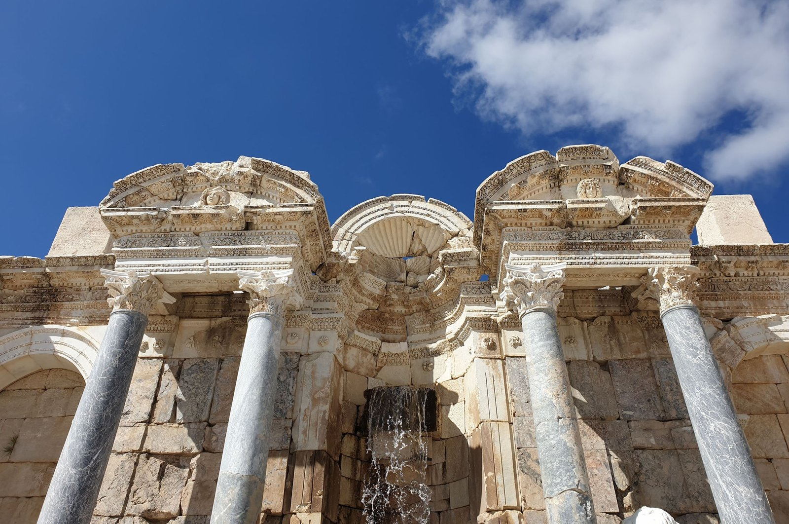 The stunning Antonine Fountain in Sagalassos. (Photo by Argun Konuk)