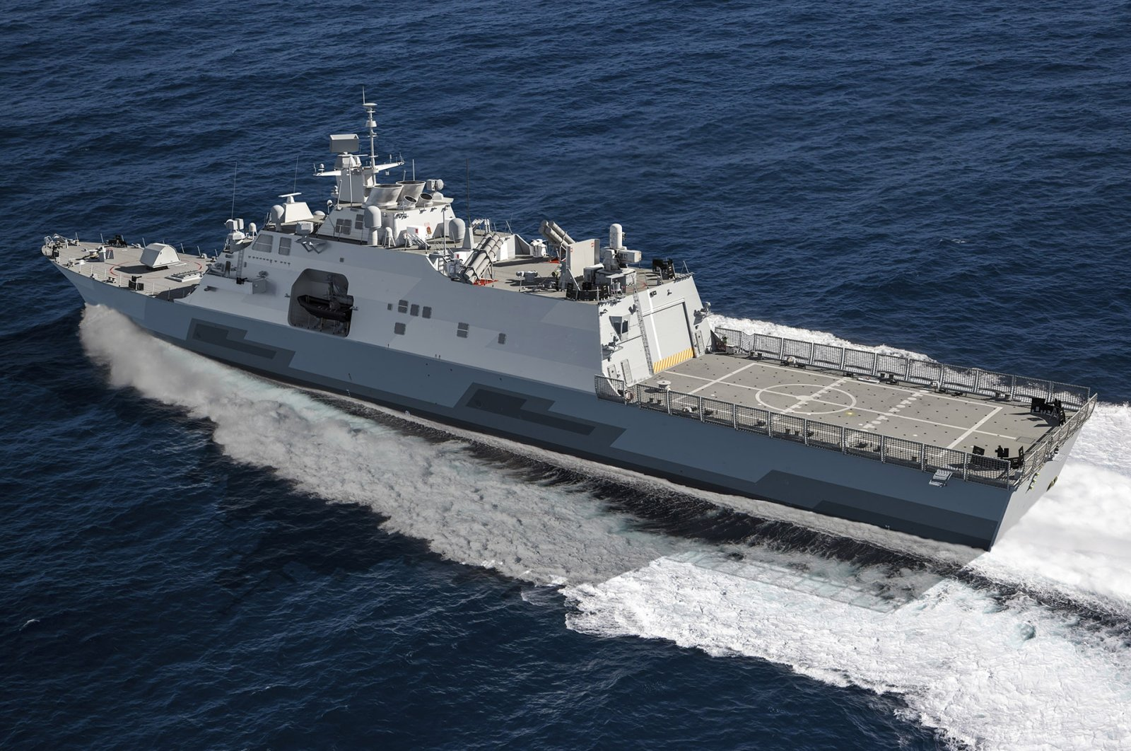 A representative picture of the MMSC tailored for the Greek Navy. (Courtesy of Lockheed Martin)