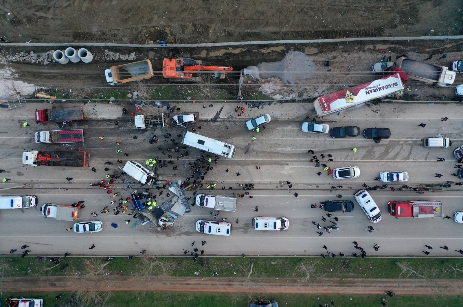 The fatal accident took place in the Kestel district of Bursa provincein northwestern Turkey on March 12. 2021. (AA Photo)