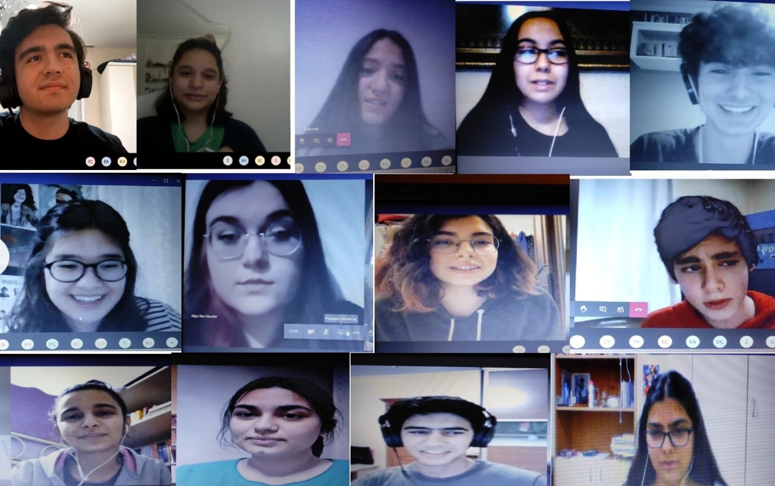 Youth from Turkey and United States learn about Turkish culture and the English language from each other thanks to the online project. (AA PHOTO)