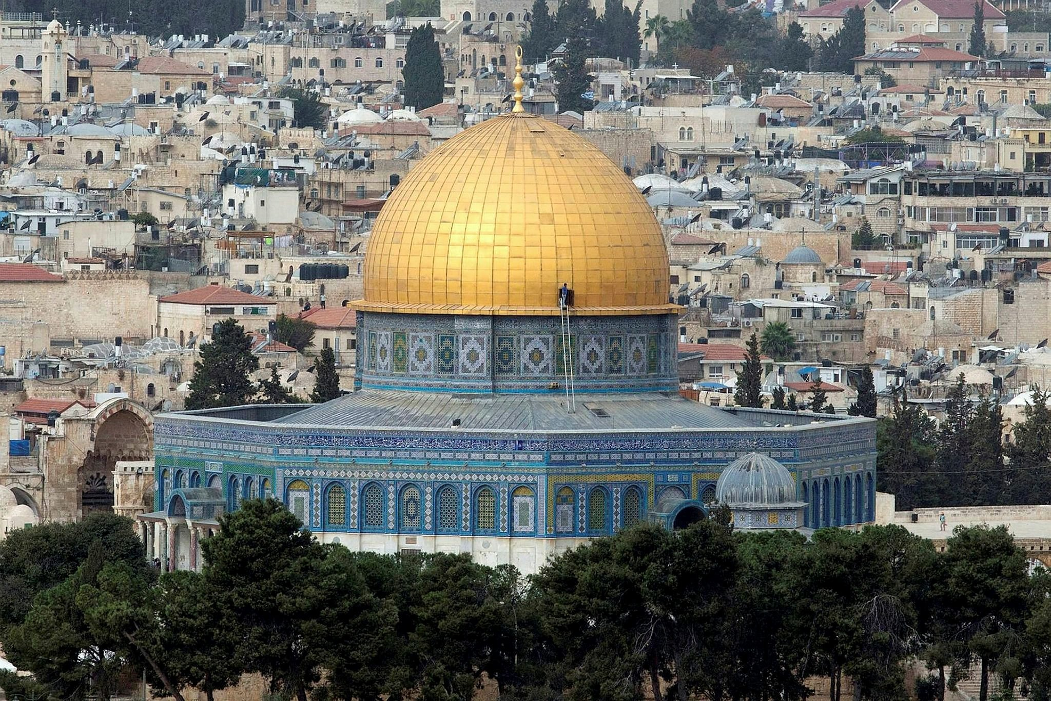 The majestic dome of the historicalAl-Aqsa Mosque can be seen from afar in Jerusalem. (Archive Photo)