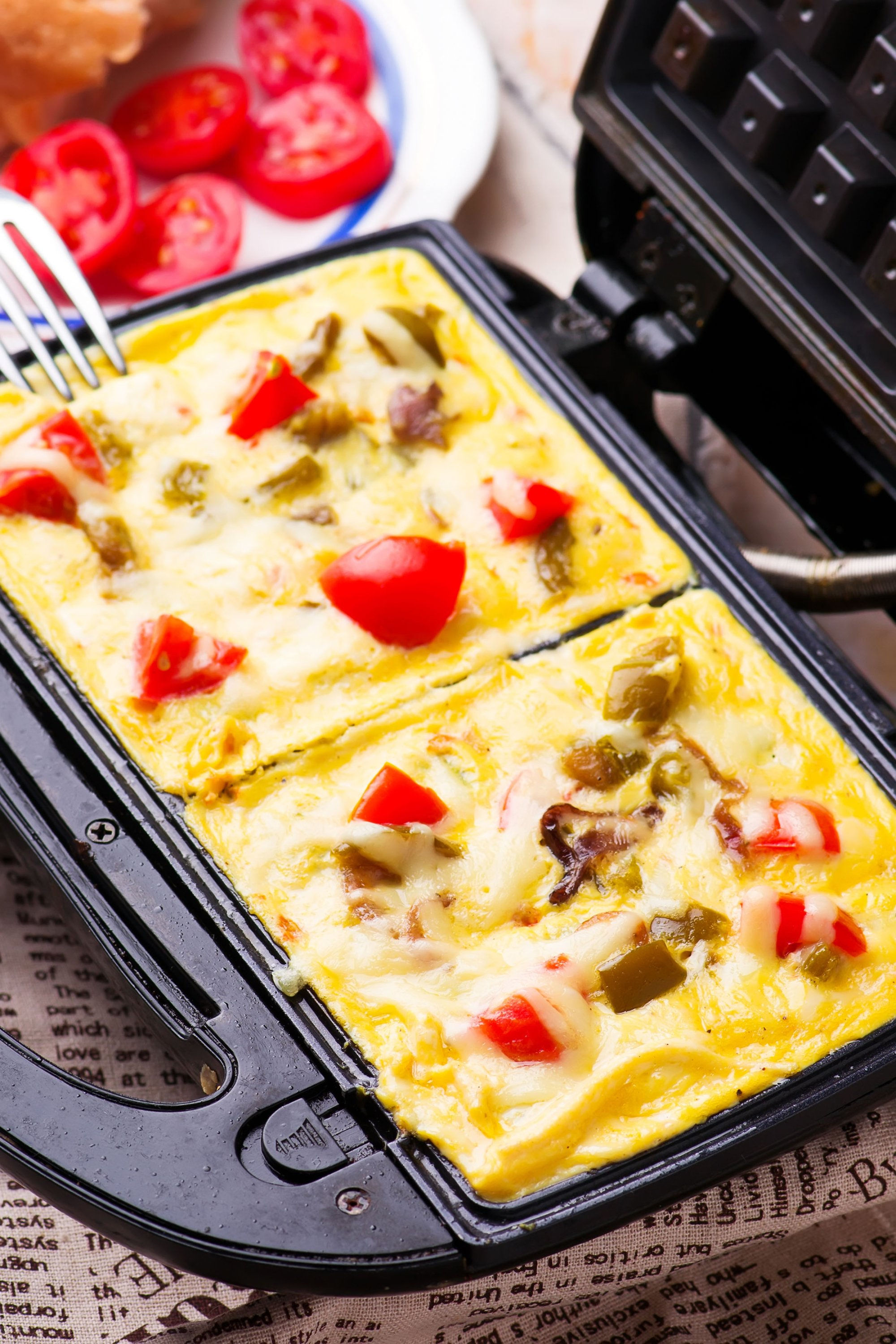 A waffle omelet saves you from trying to flip the omelet in a pan. (Shutterstock Photo)