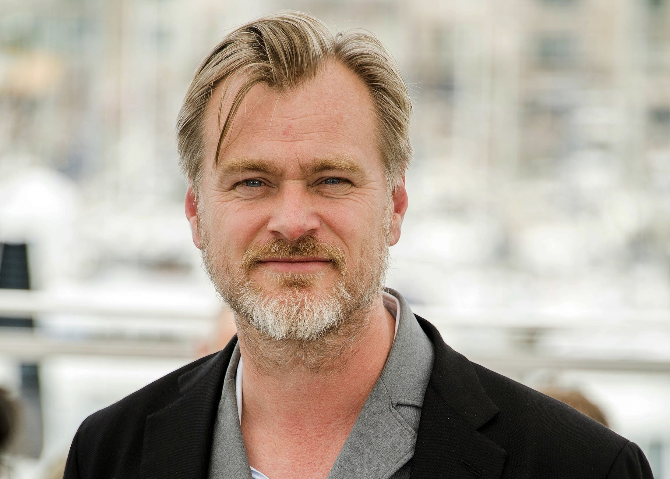 Director Christopher Nolan poses during a photocall at the 71st international film festival, Cannes, southern France, May 12, 2018. (AP Photo)