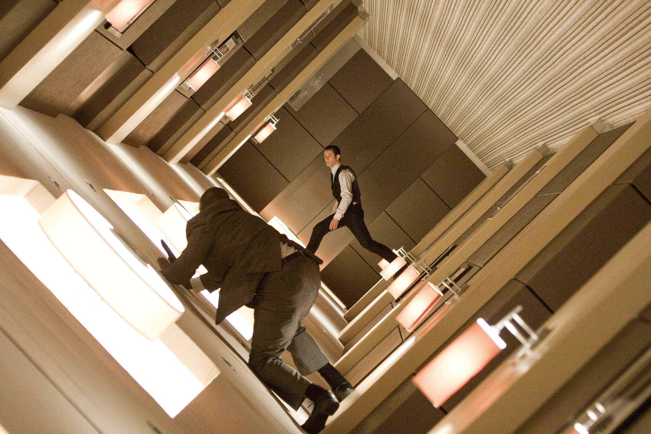 Joseph Gordon Levitt as Arthur in Warner Bros. Pictures' and Legendary Pictures' science fiction action film 'Inception.'