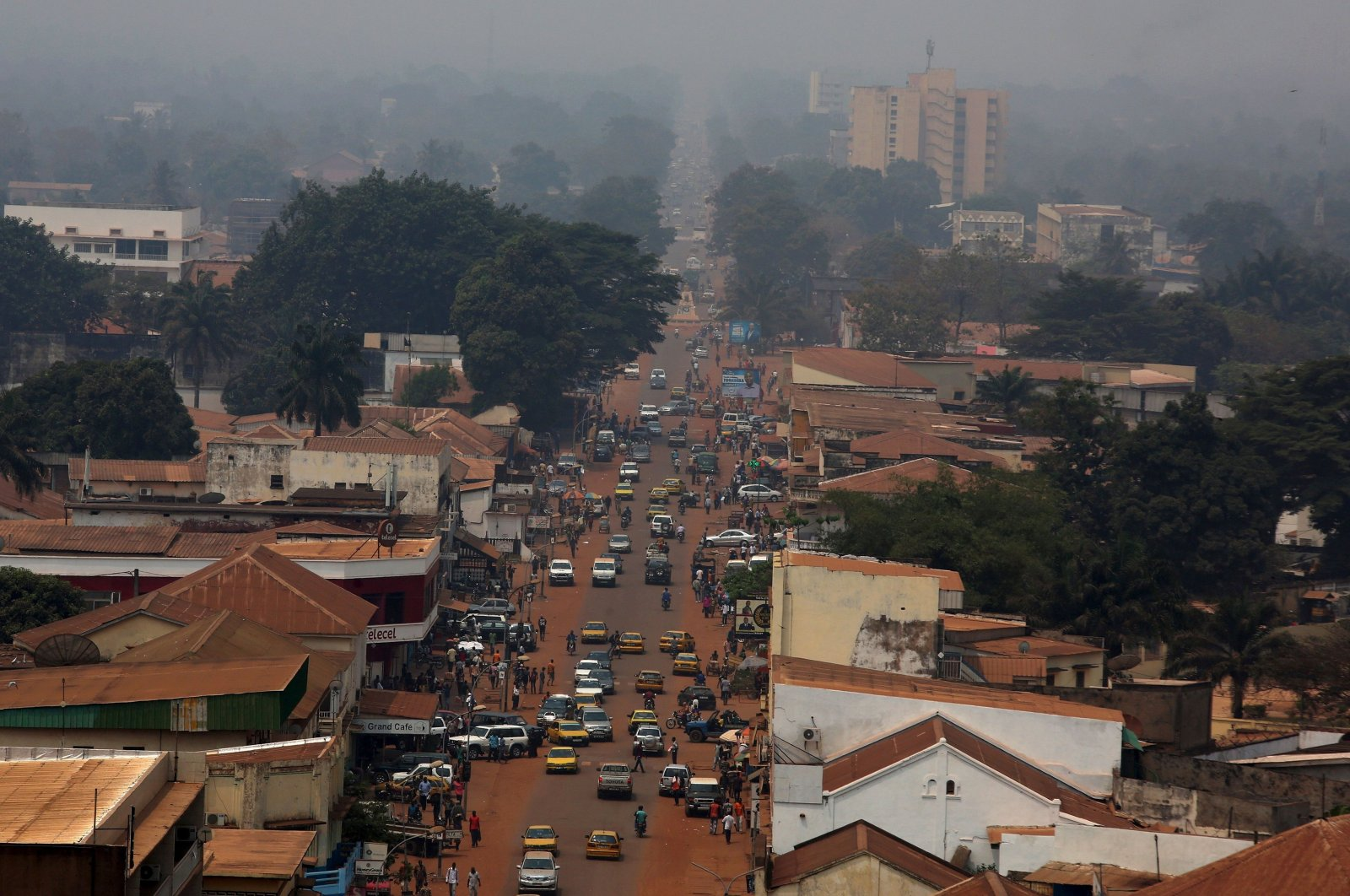 A general view shows a part of the capital Bangui, Central African Republic, Feb. 16, 2016. (Reuters Photo)