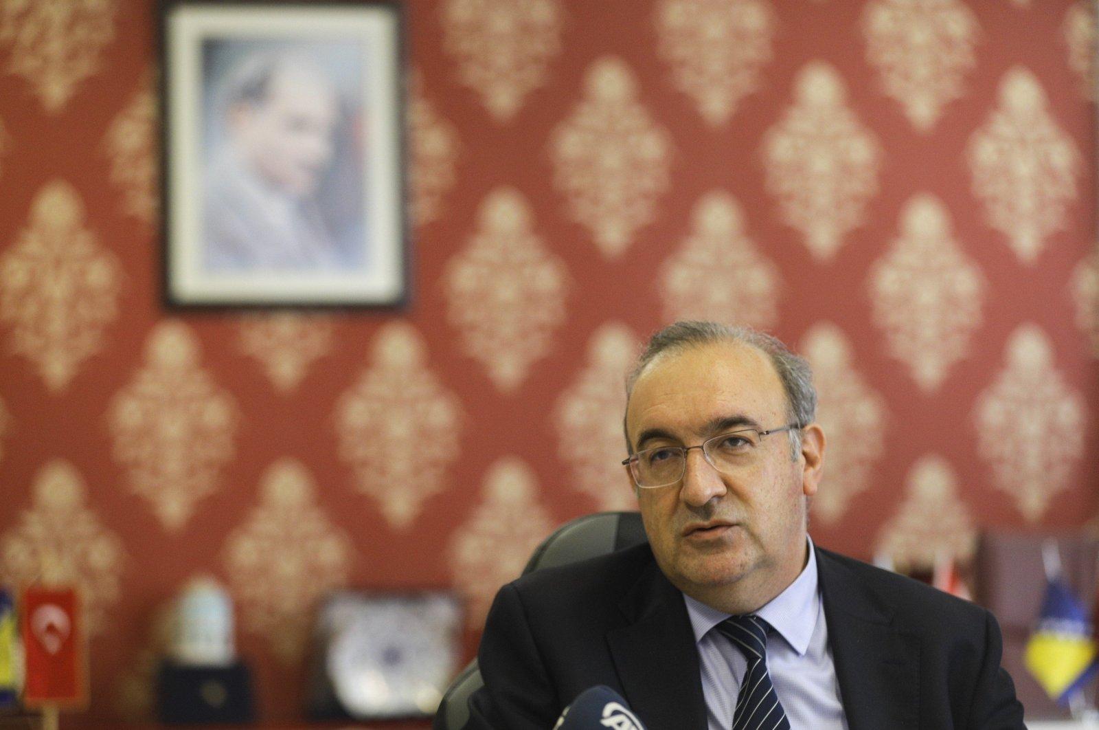 Turkey's Ambassador to Sarajevo Haldun Koç speaks during an interview with Anadolu Agency (AA), Sarajevo, Bosnia-Herzegovina, Oct. 7, 2020. (AA Photo)