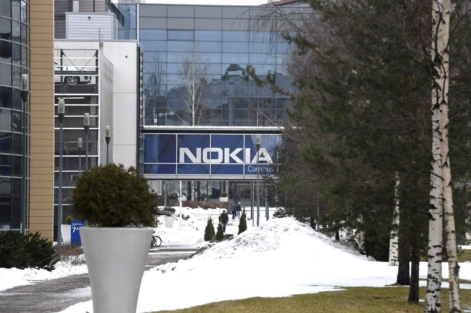 A view of the headquarters of the Finnish telecoms company Nokia in Espoo, Finland, March 16, 2021. (Reuters Photo)