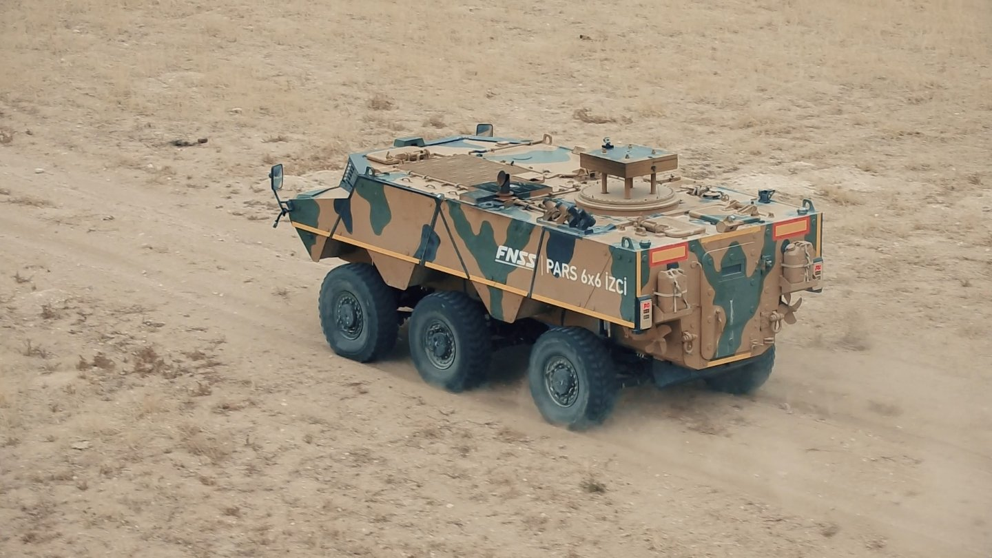 Pars Scout armored vehicle of the FNSS seen in the photo provided on March 17, 2021. (Courtesy of FNSS)