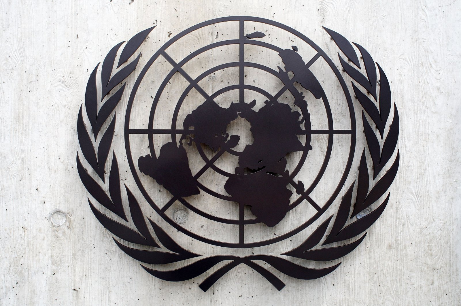 The United Nations emblem is seen in front of the United Nations Office (UNOG) in Geneva, Switzerland, June 8, 2008. (Getty Images)