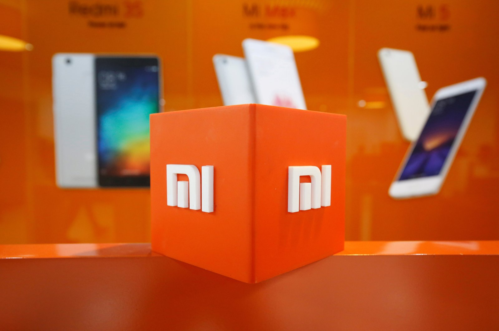 The logo of Xiaomi is seen inside the company's office in Bengaluru, India, Jan. 18, 2018. (Reuters Photo)
