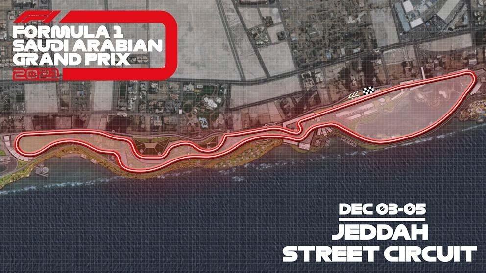 A view of the Jeddah Street Circuit which will host the Saudi Arabian Grand Prix in December 2021. (Saudi Arabian GP Photo)