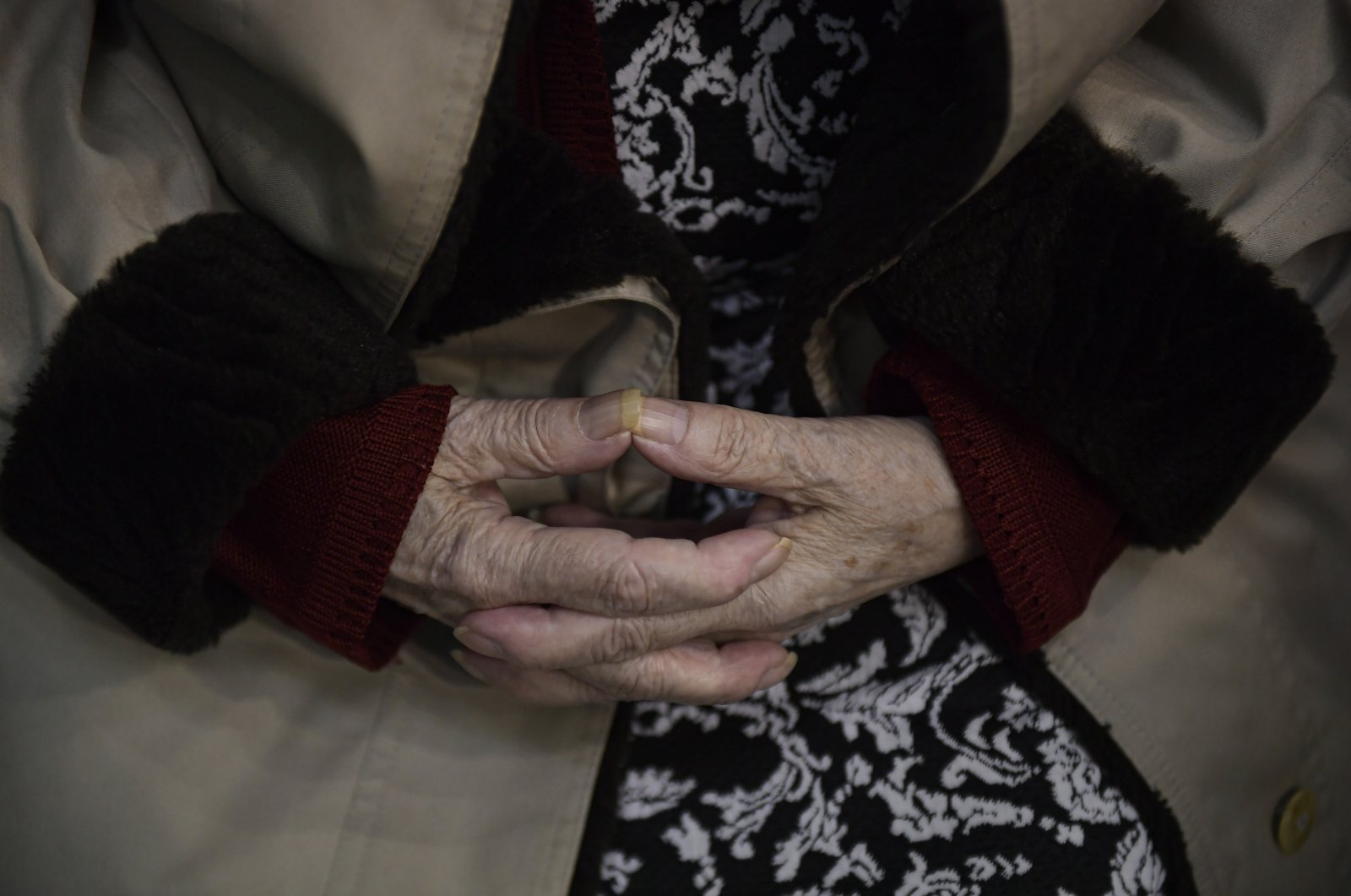 88-year-old Teresa Cabello waits to receive a Pfizer vaccine during a COVID-19 vaccination campaign in Pamplona, northern Spain, March 16, 2021. (AP Photo)