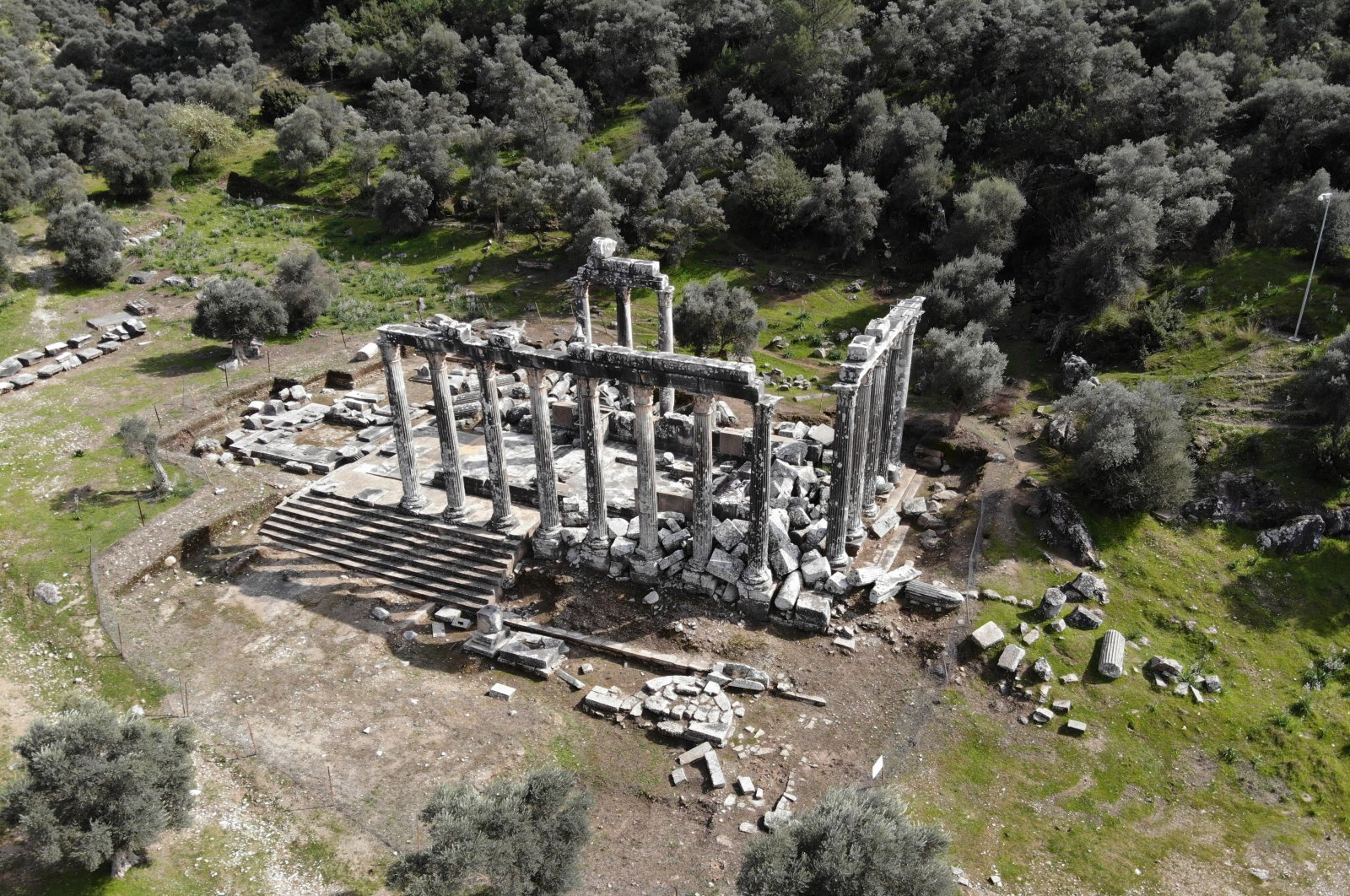 A view of the Temple of Zeus in the ancient city of Euromos, Muğla, southwestern Turkey, March 17, 2021. (AA Photo)
