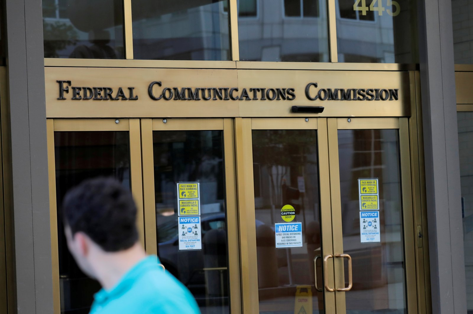 Signage at the headquarters of the Federal Communications Commission in Washington, D.C., U.S., Aug. 29, 2020. (Reuters Photo)