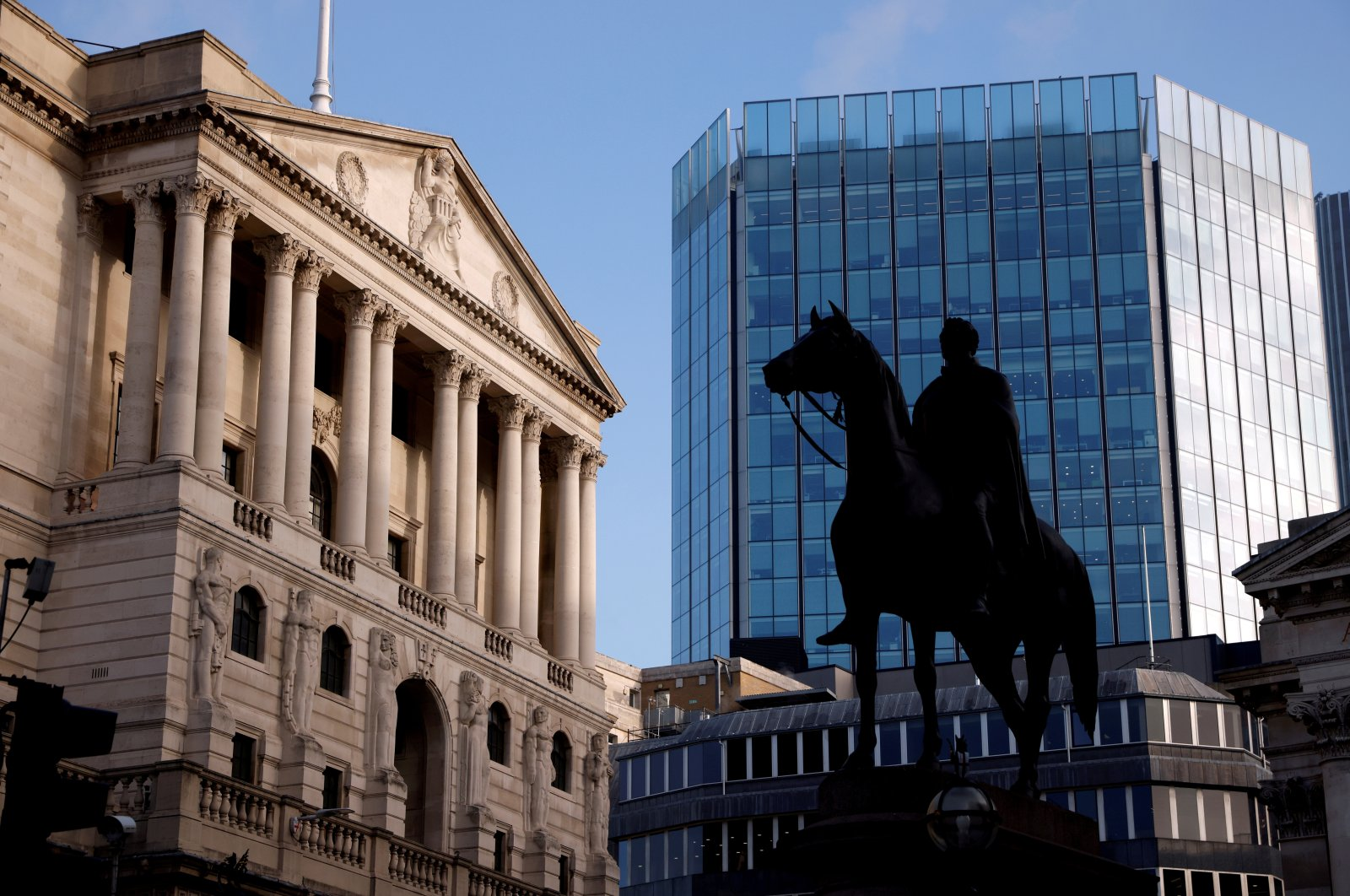 A general view shows The Bank of England in the City of London financial district in London, Britain, Nov. 5, 2020. (Reuters Photo)