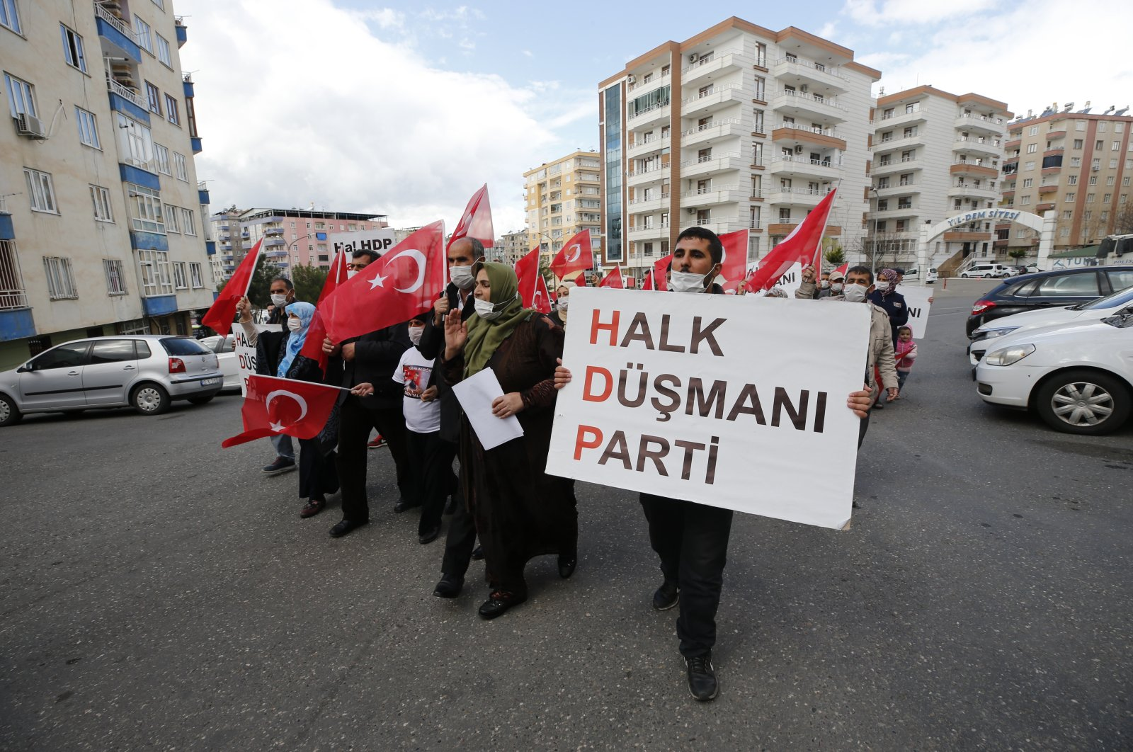 Kurdish families, whose children were kidnapped by the PKK, organize a rally in southeastern Diyarbakır province against HDP, Turkey, March 18, 2021. (AA)