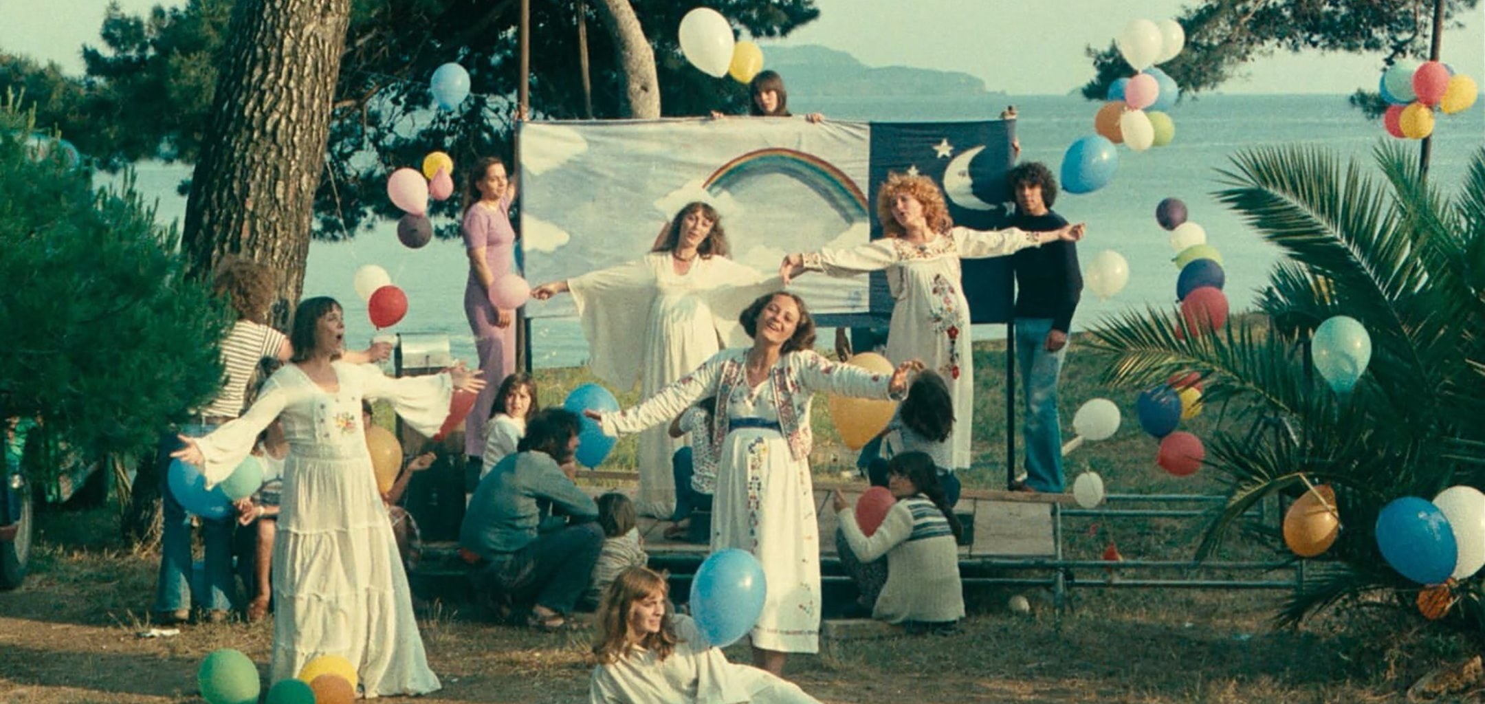 A still shot from 'One Sings, the Other Doesn't' (1977) by Agnes Varda, in a scene from 'Women Make Film- A New Road Movie Through Cinema.'