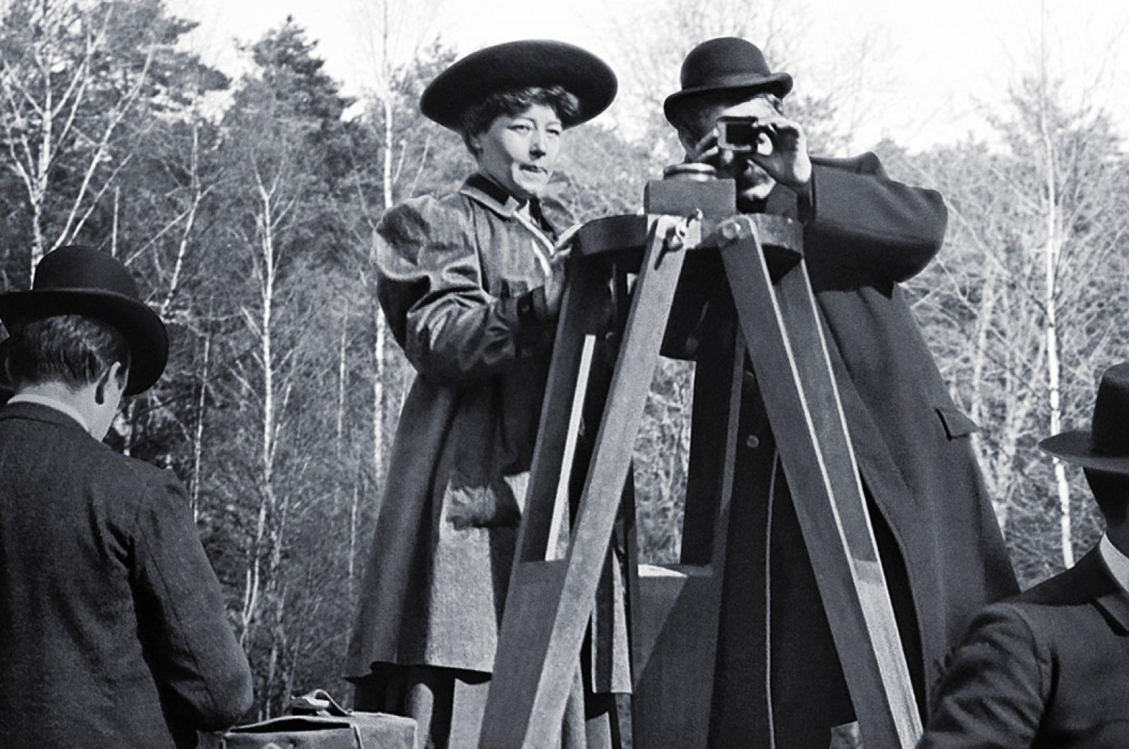 """A photo of Alice Guy-Blache while directing, in a scene from """"Women Make Film- A New Road Movie Through Cinema."""""""