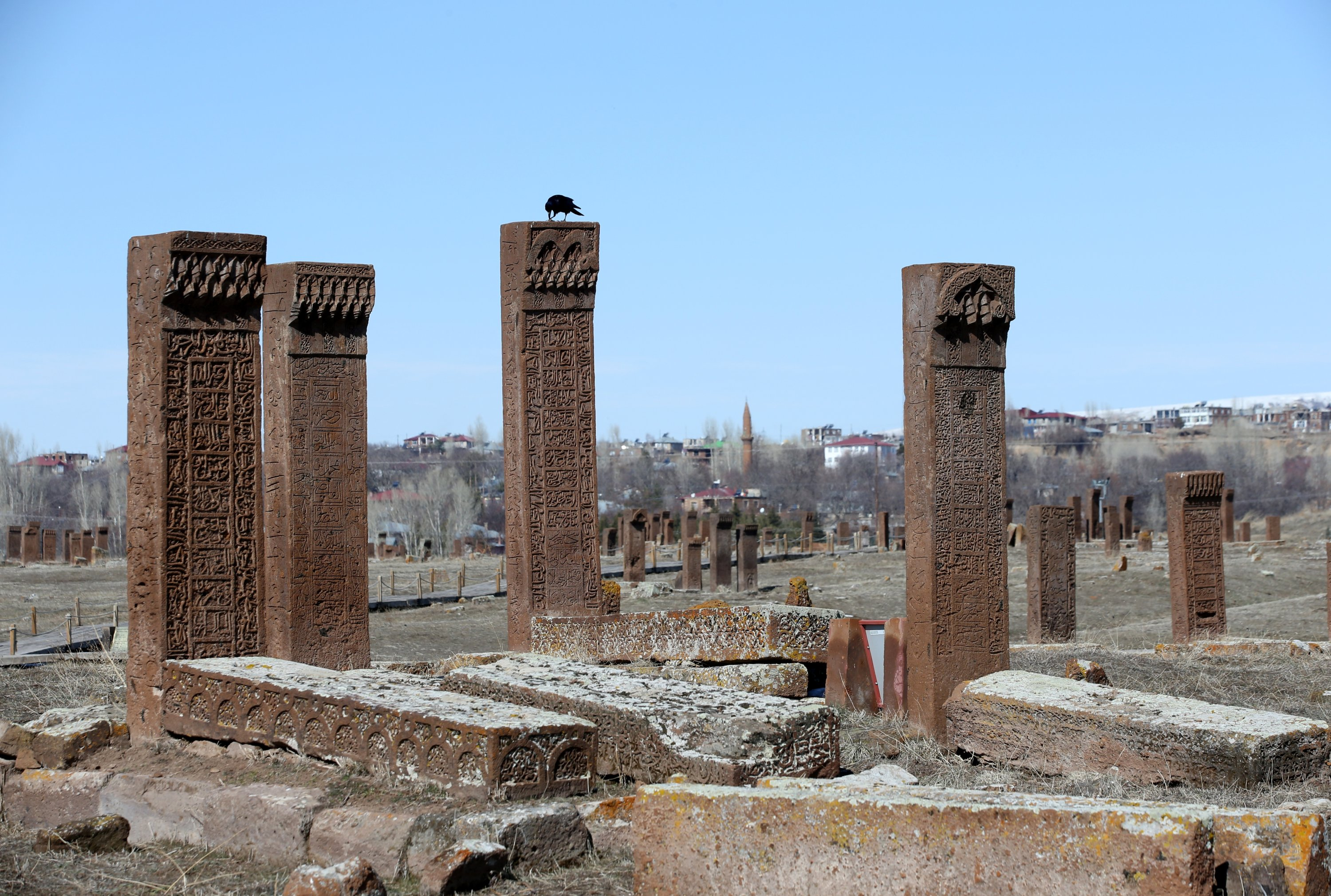 Tombstones at the Ahlat Seljuk Meydan Cemetery, Bitlis, eastern Turkey, March 19, 2021. (AA Photo)