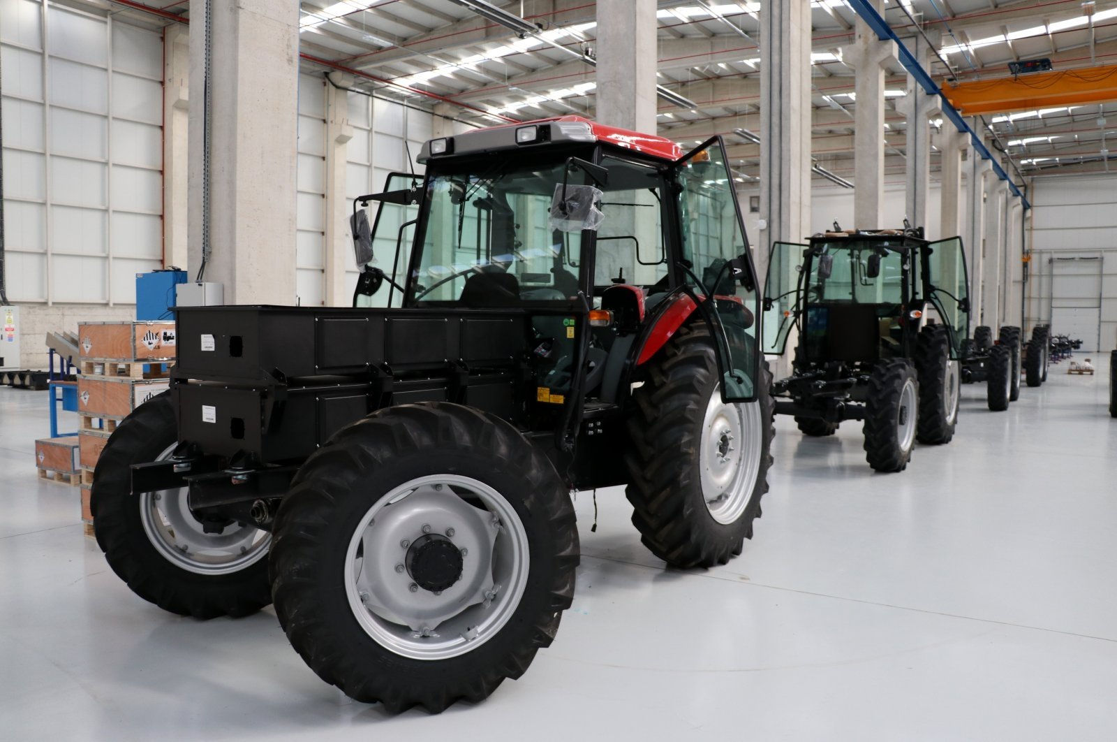 An electric tractor produced by 'ZY Electric Tractor' at their factory in Istanbul, Turkey, March 8, 2021. (AA Photo)