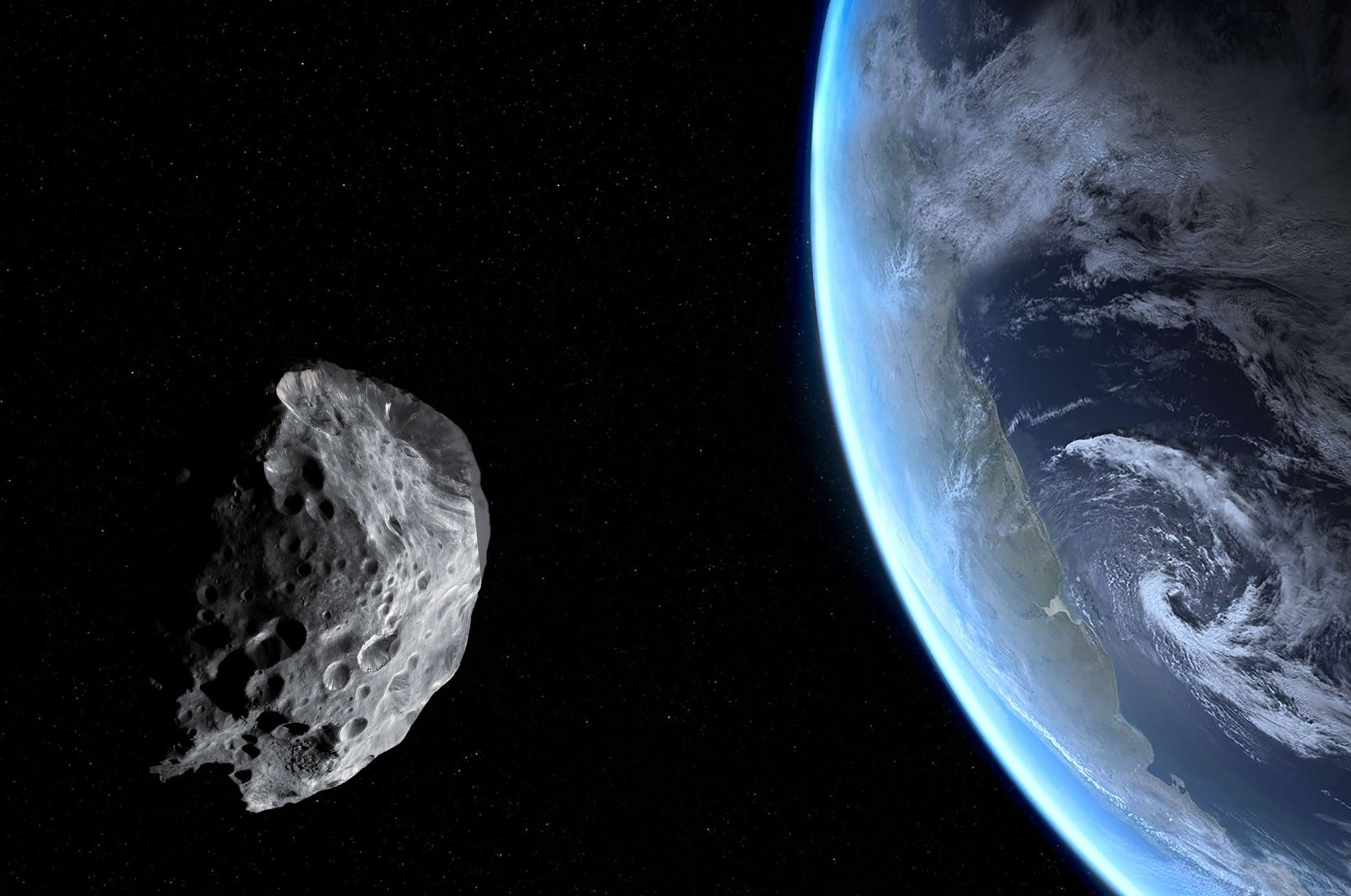Asteroid 2001 FO32 will approach Earth at a distance of about 2 million kilometers (1.25 million miles), according to NASA. (Shutterstock Photo)