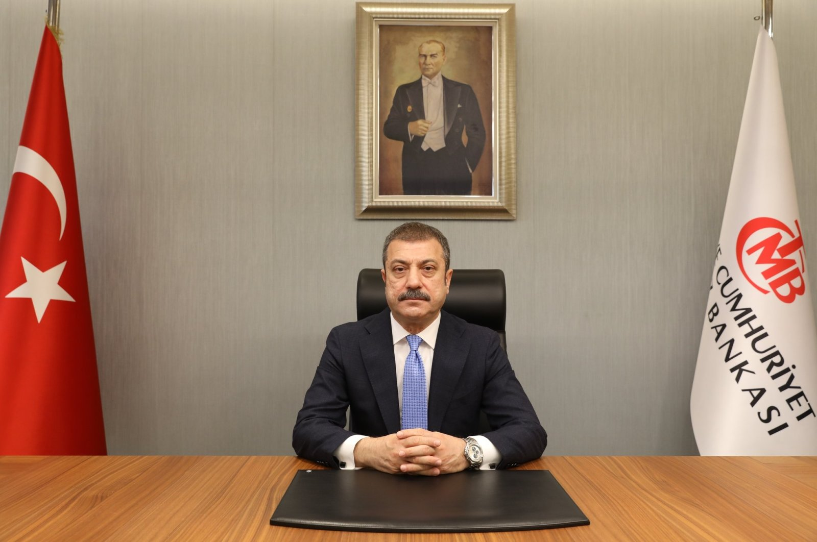 Newly appointed Central Bank of the Republic of Turkey (CBRT) Governor Şahap Kavcıoğlu, Ankara, Turkey, March 21, 2021. (DHA Photo)