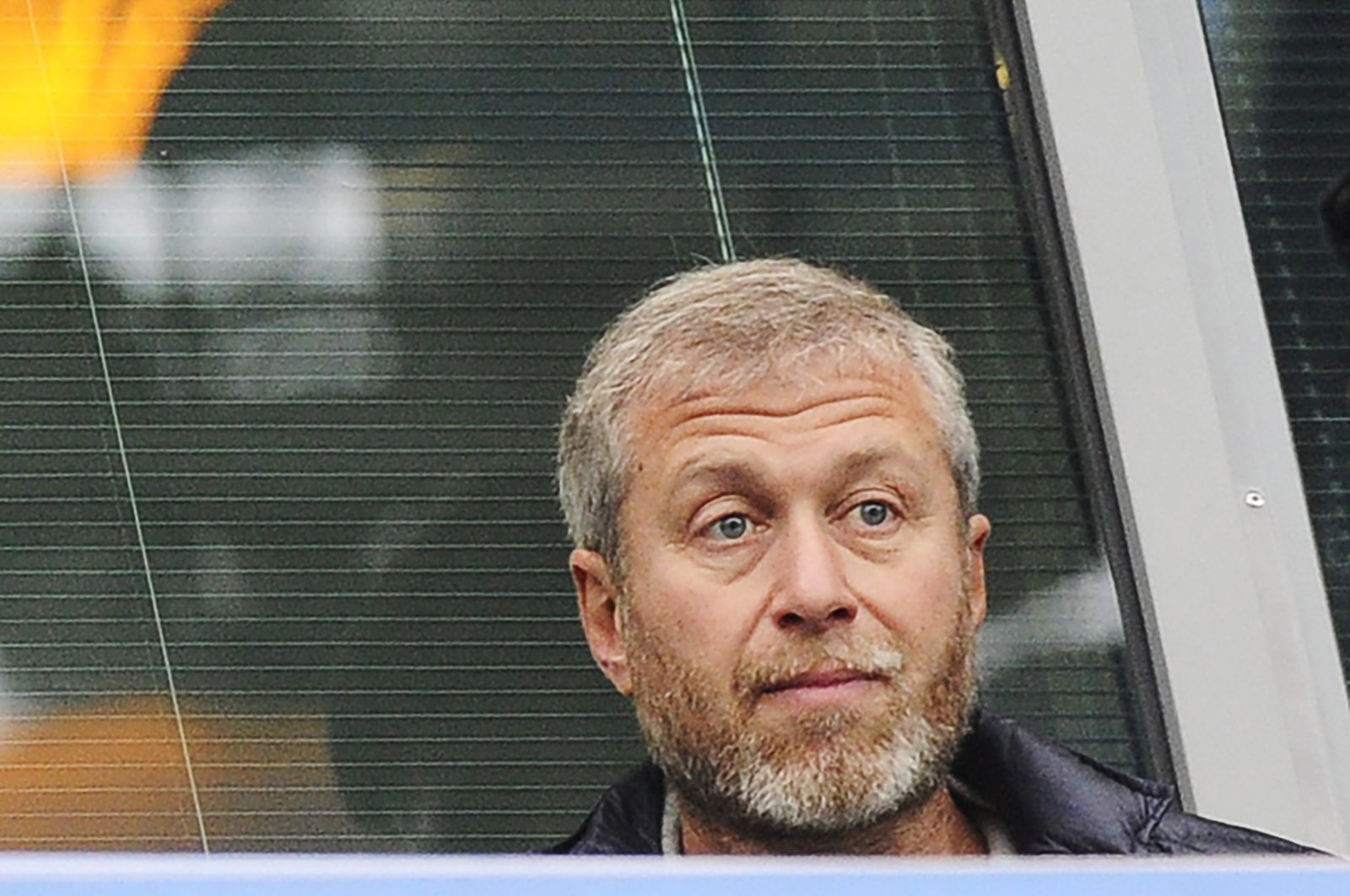 Chelsea owner Roman Abramovich watches a Premier League match between Chelsea and West Brom at the Stamford Bridge, London, Britain, Nov. 22, 2014. (EPA Photo)