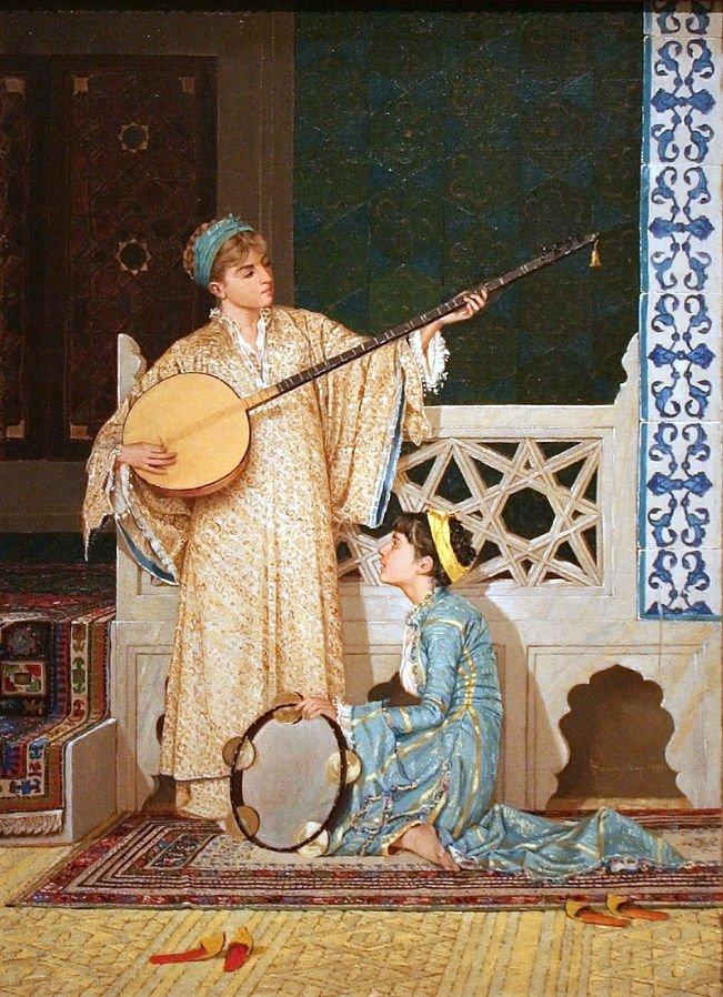 'Two Musician Girls' by Osman Hamdi Bey.