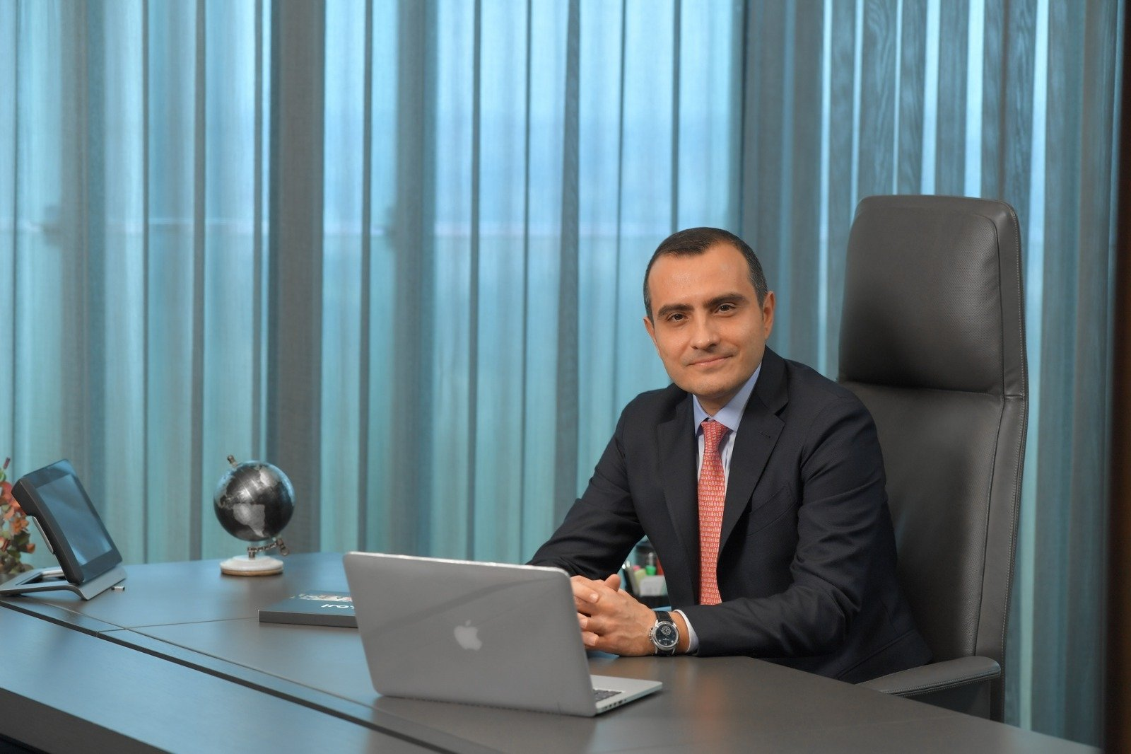 DgPays founder and CEO Serkan Ömerneyoğlu poses in the photo provided on March 22, 2021. (DpPays Photo via AA)
