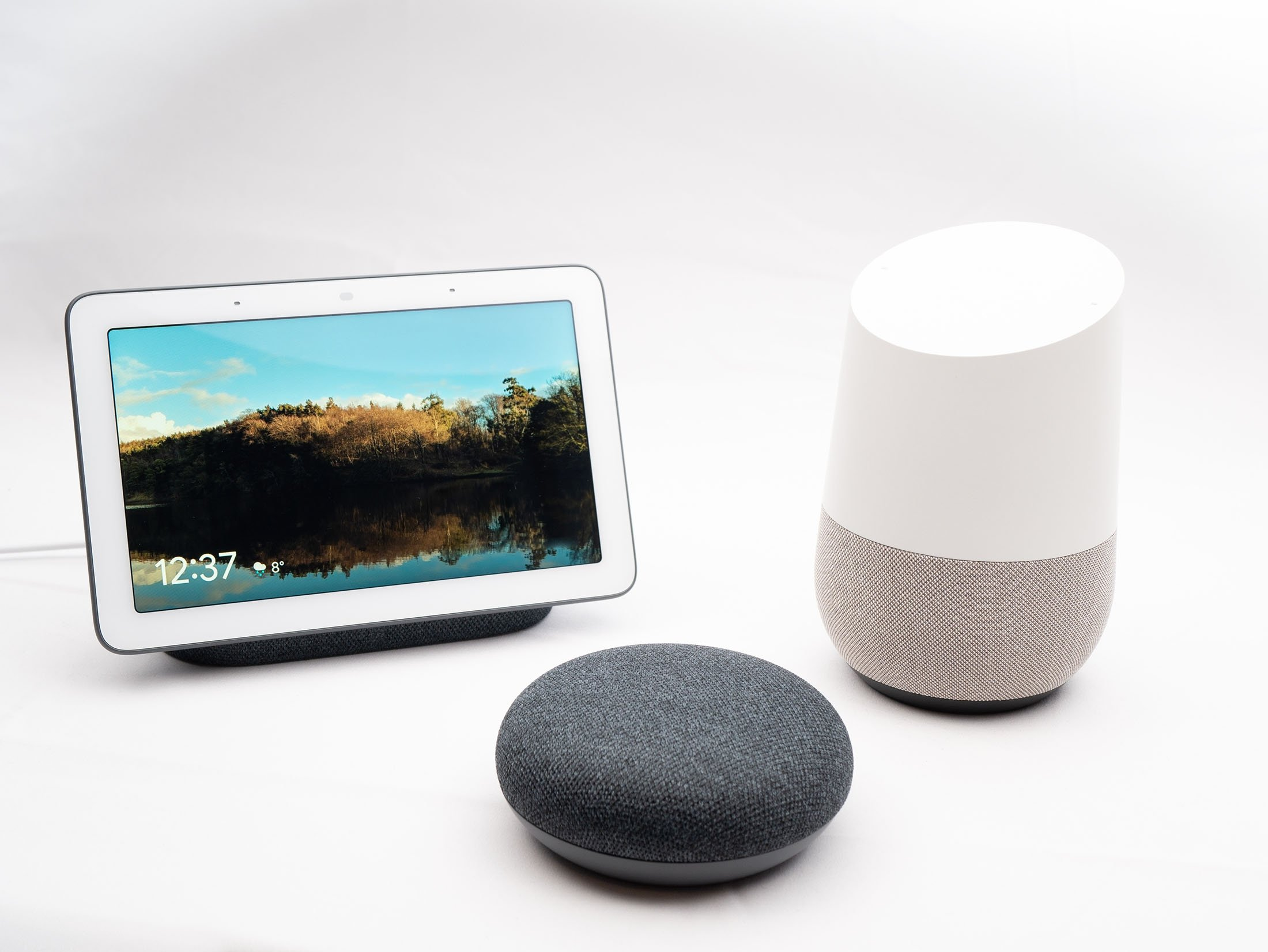 Google Nest Hub, Google Home and Google Home Mini are a part of the line of smart speakers and devices developed by Google. (Shutterstock Photo)