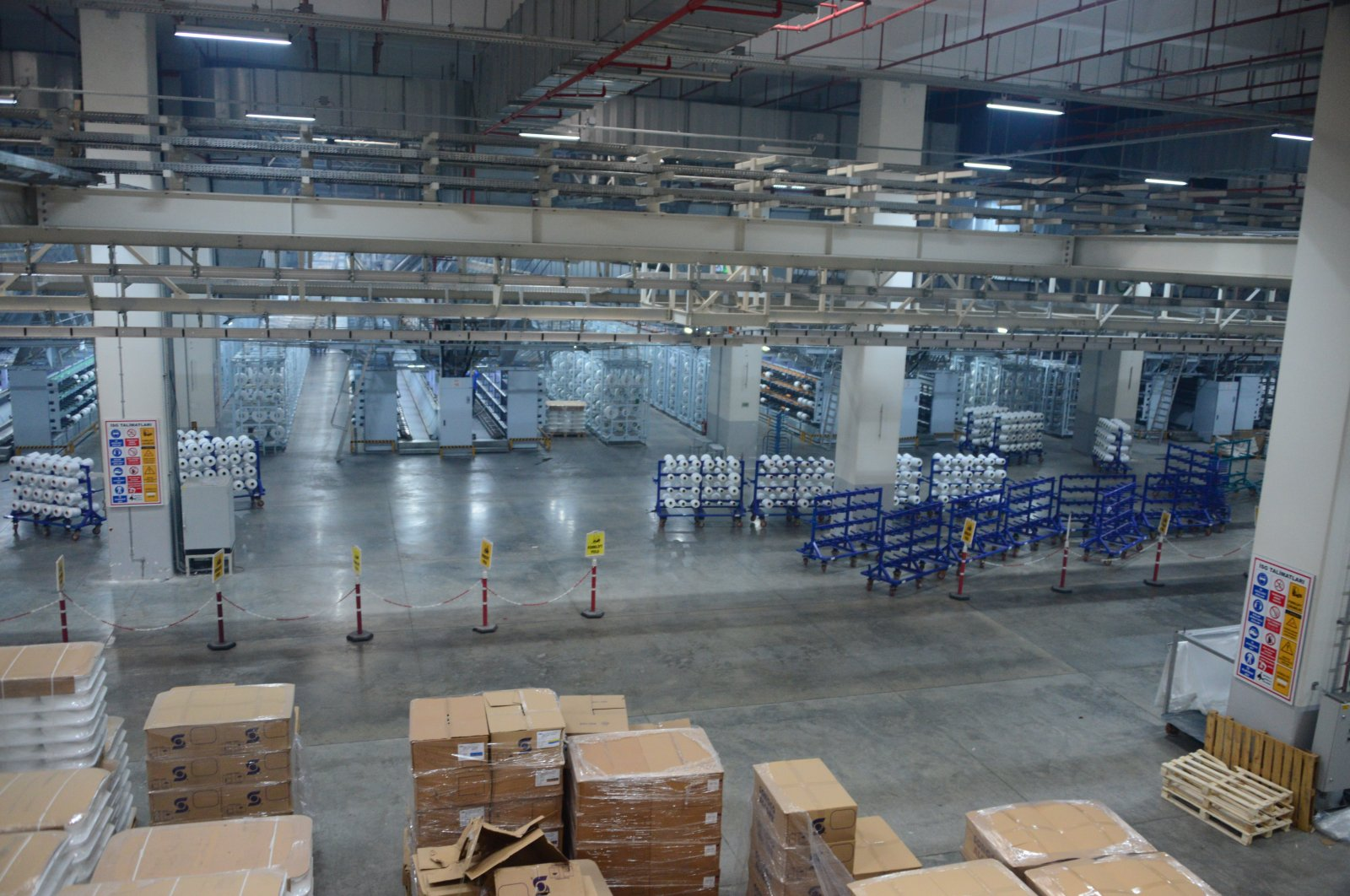Sasa's polyester production factory in southern Adana province, Turkey, Sept. 21, 2020. (Sabah)