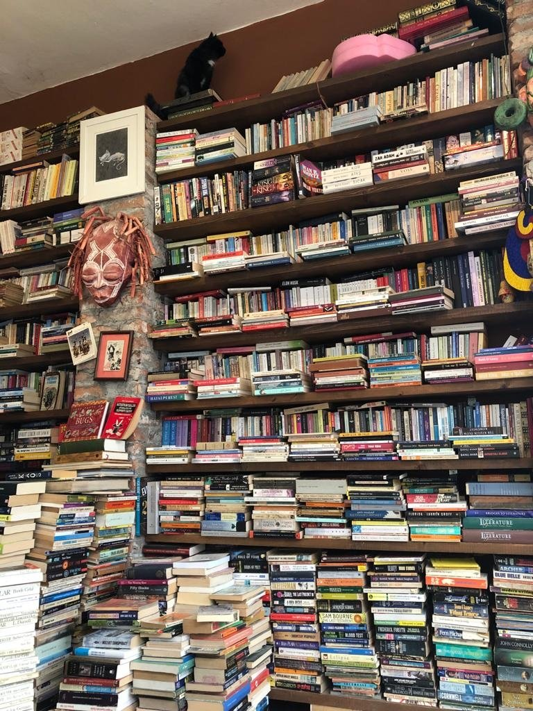 Rows and rows of books of old, categorized yet chaotic, welcome the curious reader at this sahaf in Ankara, Turkey. (Photo by Matt Hanson)