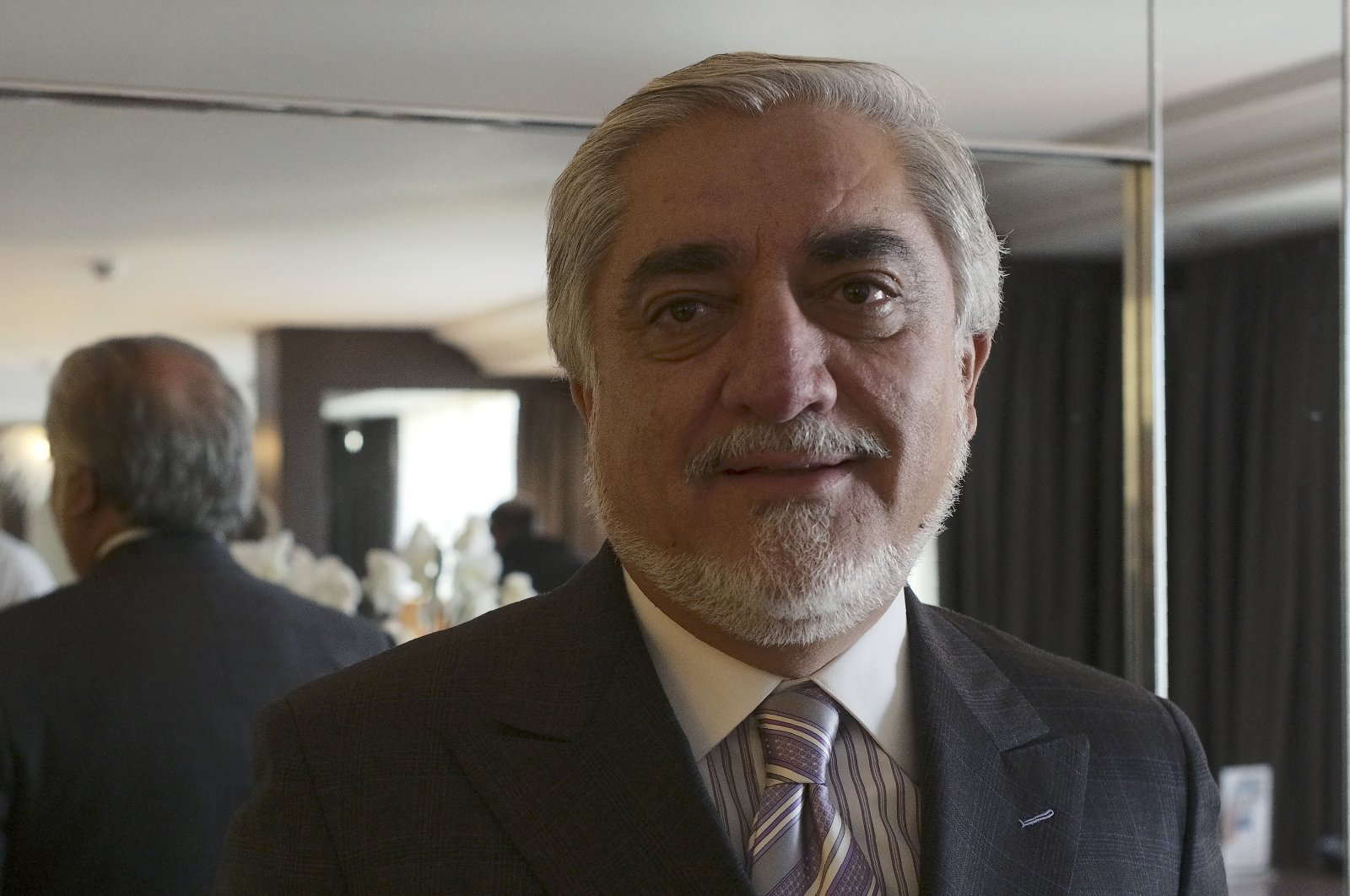 Afghanistan's chief peace envoy Abdullah Abdullah is photographed during an interview with The Associated Press, in Ankara, Turkey, Nov. 21, 2020. (AP Photo)