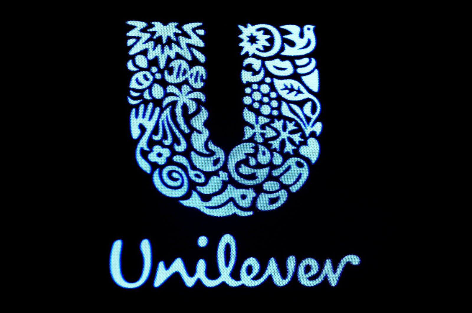 The company logo for Unilever is displayed on a screen on the floor of the New York Stock Exchange (NYSE), New York, U.S., Feb. 17, 2017. (Reuters Photo)