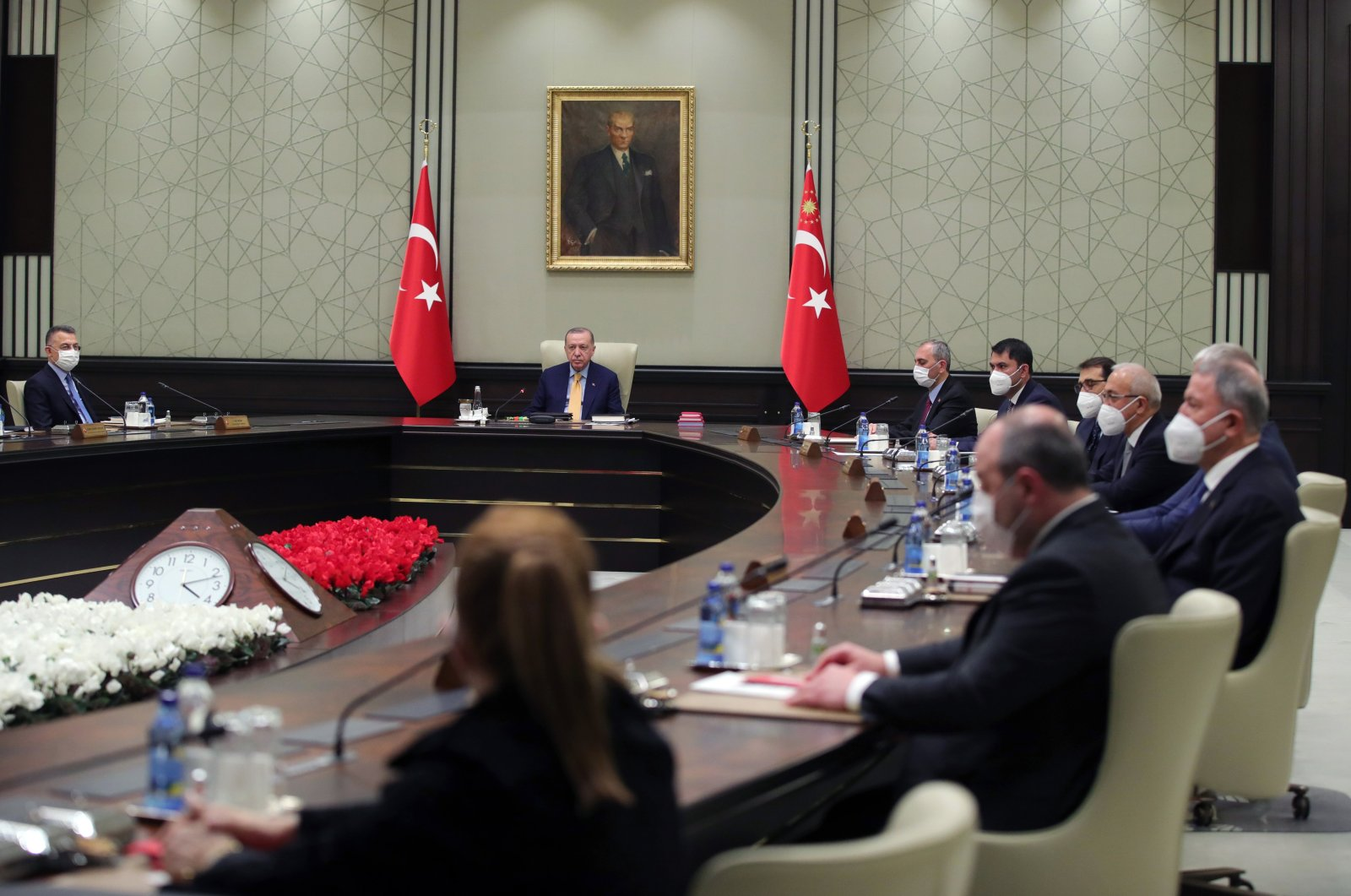 A view of Turkey's Cabinet meeting in the capital Ankara,Turkey, Feb, 28, 2021. (AA Photo)