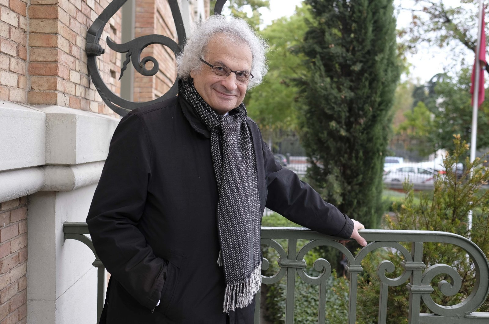 Franco-Lebanese writer Amin Maalouf poses during a portrait session in Madrid, Spain, Oct. 22, 2019. (Getty Images)