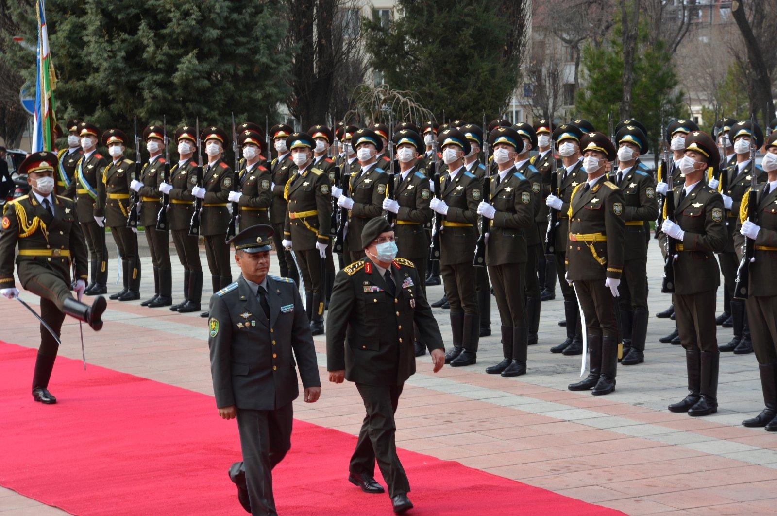 Chief of General Staff Gen. Yaşar Güler attends the official ceremony in the Uzbek city of Tashkent, March 23, 2021 (AA Photo)