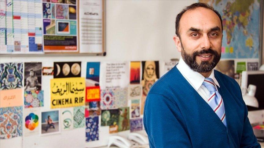Alchemiya CEO Navid Akhtar poses in his office in the U.K. ( AA Photo)