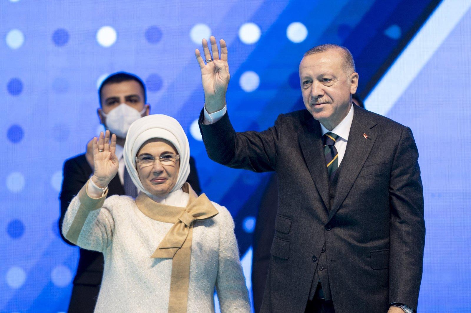 President Recep Tayyip Erdoğan at his party's seventh ordinary congress in the capital Ankara, Turkey, March 24, 2021. (AA Photo)