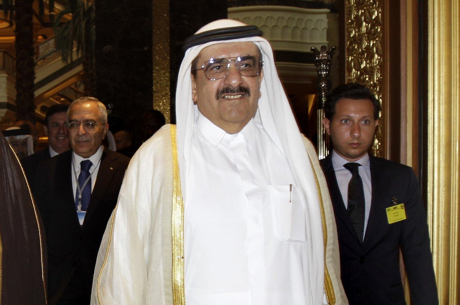 Sheikh Hamdan bin Rashid Al Maktoum, deputy ruler of Dubai and the United Arab Emirates minister of finance, attends the opening of the Arab Finance Ministers Exceptional meeting in Abu Dhabi, UAE, Sept. 7, 2011. (AP Photo)
