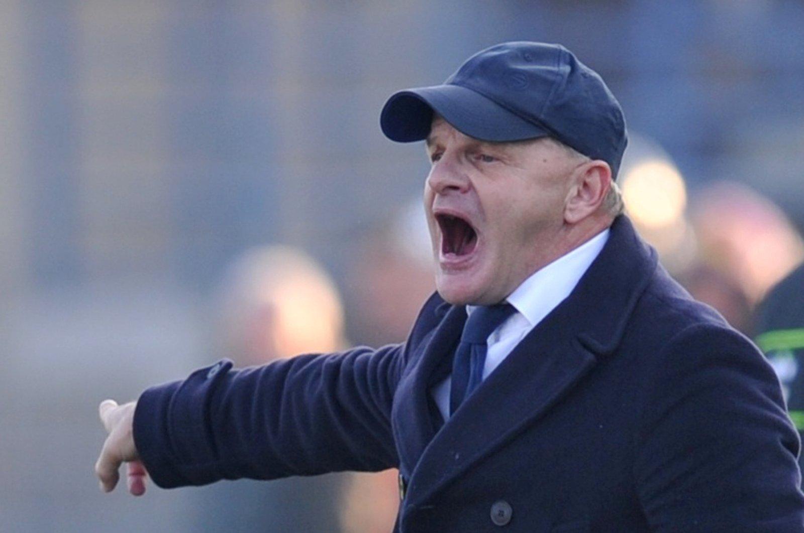 Then-Empoli coach Giuseppe Iachini reacts during a Serie A match against Inter Milan, Stadio Carlo Castellani, Empoli, Italy, Dec. 29, 2018. (Reuters Photo)