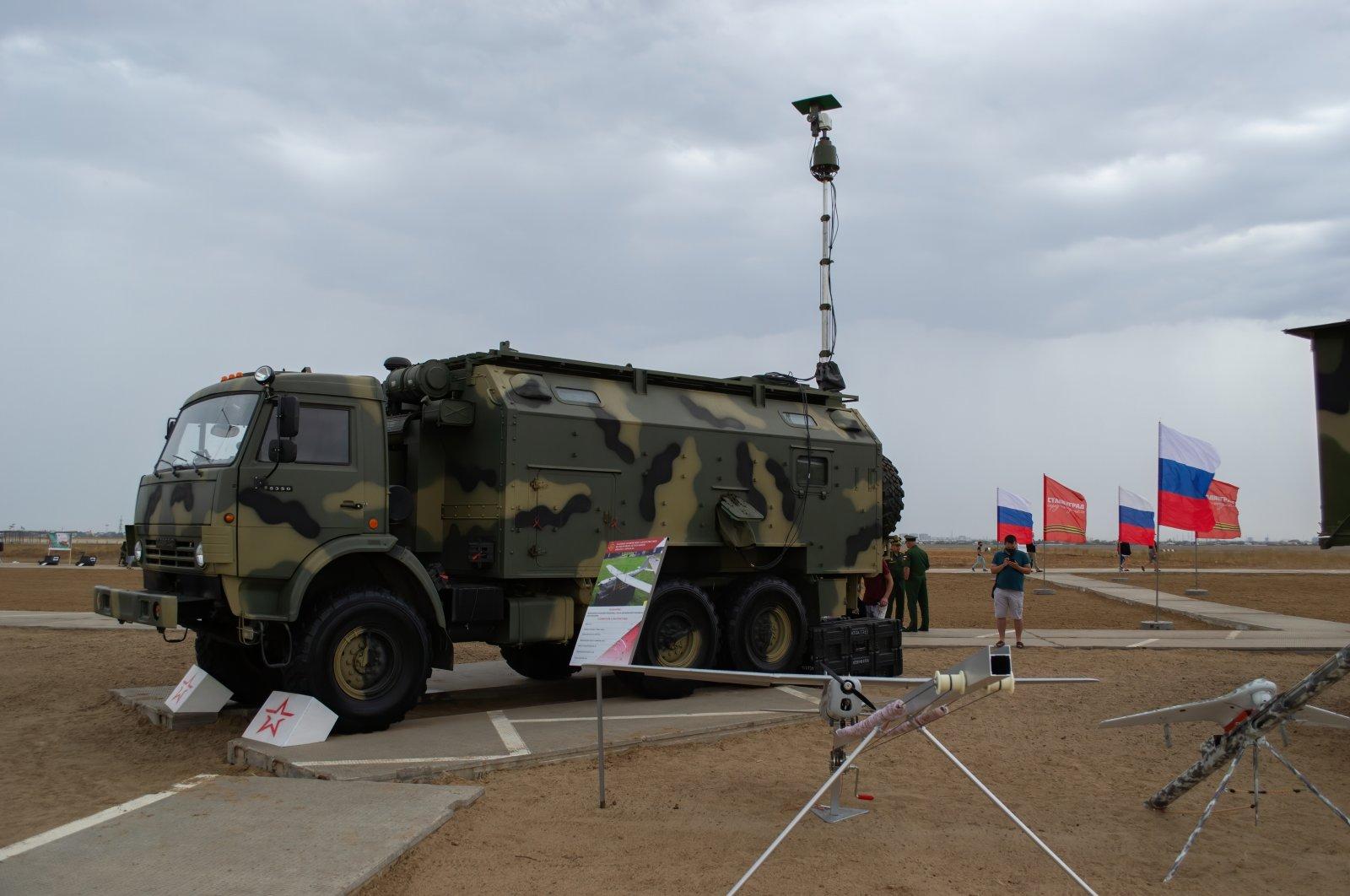 The Russian UAV Orlan-10 complex at the exhibition of military equipment in the Patriot Park branch, Srednyaya Akhtuba, Volgograd region, Russia, Aug. 28, 2020. (Shutterstock Photo)