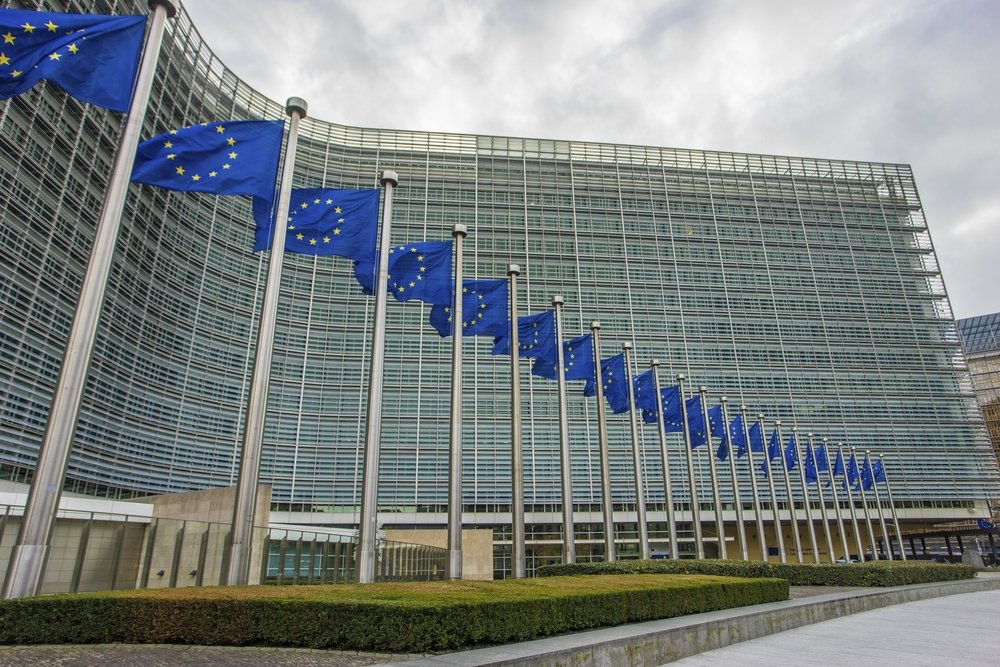 The Berlaymont is an office building that houses the headquarters of the European Commission, which is the executive of the EU, Belgium, Brussels, Jan 12, 2017. (Shutterstock Photo)