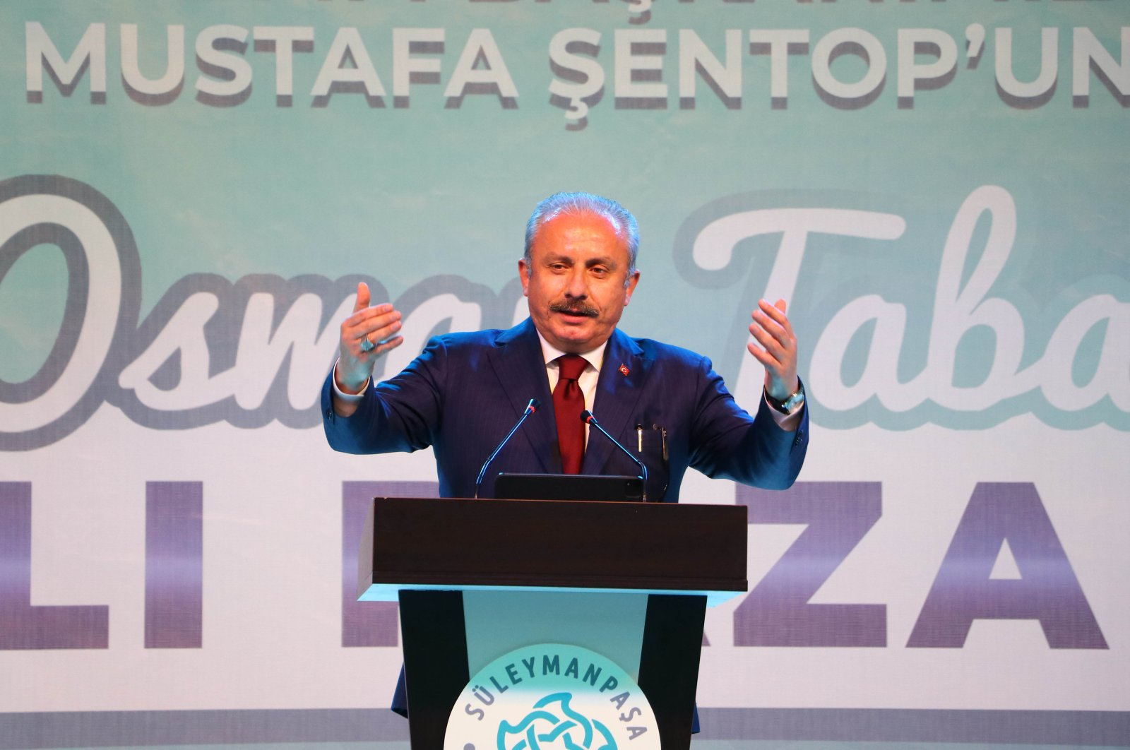 Parliament Speaker Mustafa Şentop speaks during a conference in northwestern Tekirdağ province, Turkey, March 19, 2021. (AA Photo)