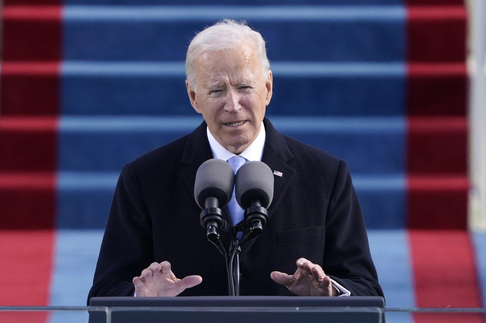President Joe Biden speaks during the 59th Presidential Inauguration at the U.S. Capitol in Washington, D.C., U.S., Jan. 20, 2021. (AP Photo)