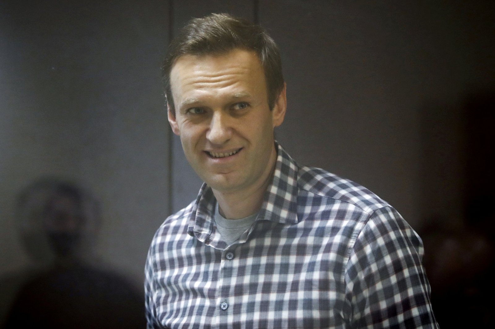 Russian opposition politician Alexei Navalny attends a court hearing in Moscow, Russia Feb. 20, 2021. (Reuters Photo)