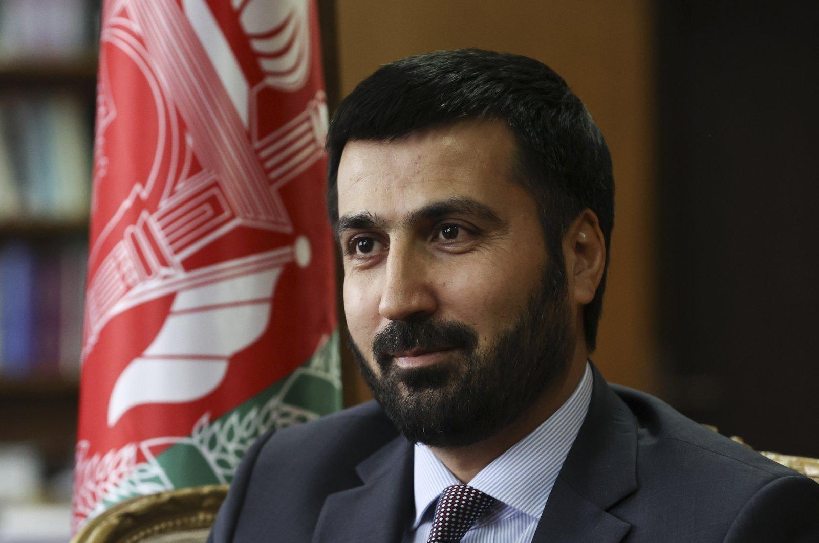 Amir Mohammad Ramin, Afghanistan's ambassador to Turkey, speaks to the Anadolu Agency (AA) in the capital Ankara, Turkey, March 26, 2021. (AA Photo)